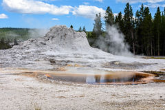Geiser in Yellowstone Royalty-vrije Stock Afbeelding