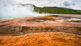 Geiserbassin, het Nationale Park van Yellowstone, Wyoming Stock Foto