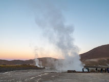 Geisers bij Gr Tatio, Atacama Stock Afbeelding