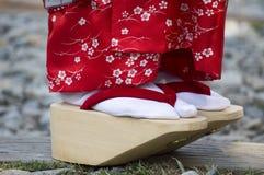 Geisha's鞋子 库存照片