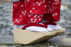 Geisha's skor Arkivfoto