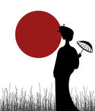 Geisha illustration stock