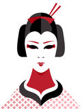 Geisha Vektor Illustrationer