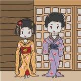 Geisha ilustración del vector