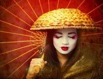 geisha royaltyfri bild