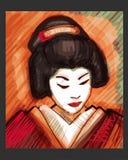 geisha Royaltyfri Fotografi