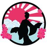 Geisha. Vector illustration of a geisha Stock Photos