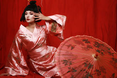 Geisha Fotografie Stock Libere da Diritti