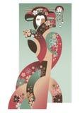 Geisha stock de ilustración