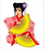 Geisha lizenzfreie abbildung