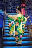 geisha royaltyfri foto