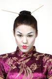 Geisha abbastanza giapponese Fotografia Stock