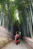 Geisha in arashiyama Stock Photo