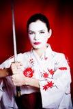 Geisha arrabbiato Fotografie Stock Libere da Diritti