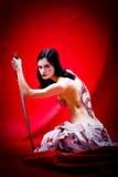 Geisha atractivo Imágenes de archivo libres de regalías
