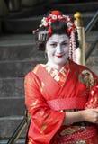 Geisha au temple de Kiyomizu images libres de droits