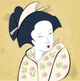 Geisha auf Weinlesehintergrund vektor abbildung