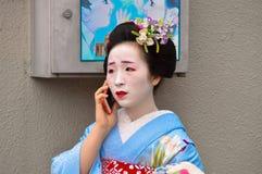Geisha bei Gion Lizenzfreie Stockfotografie