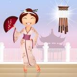 Geisha cartoon Stock Photos