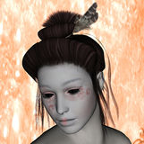 Geisha close up Stock Image