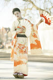 Geisha dance Stock Photo