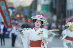 Geisha dancer Royalty Free Stock Photos