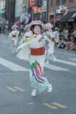 Geisha dancer Stock Images