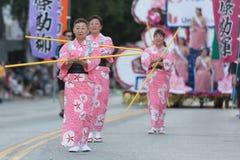 Geisha dancers Stock Photography
