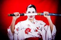 Geisha del guerriero Immagine Stock Libera da Diritti