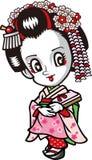 Geisha dell'apprendista Immagini Stock Libere da Diritti
