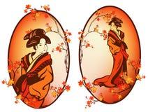 Geisha di autunno Immagine Stock