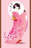 Geisha di Sporing Fotografie Stock Libere da Diritti