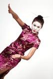 Geisha, die siamesisches Chi tut Lizenzfreie Stockfotos