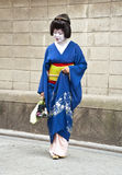 Geisha in district Gion in Kyoto, Japan Royalty-vrije Stock Foto