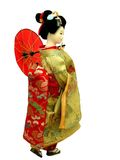 Geisha Doll. Japanese geisha doll-over white background Royalty Free Stock Image