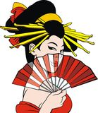 Geisha dream girl Royalty Free Stock Images