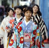 Geisha en Kyoto Fotos de archivo libres de regalías