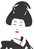 geisha för 03 framsida vektor illustrationer
