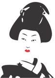 Geisha Face 03. Vector drawing of a Geisha vector illustration