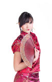 Geisha with fan Stock Photography