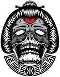 Geisha från helvete stock illustrationer
