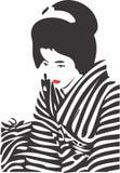 Geisha-Gesicht 12 stock abbildung