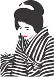 Geisha-Gesicht 12 Stockbild