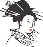 Geisha-Gesicht 13 stock abbildung