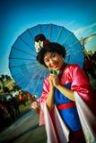 Geisha giapponese a San Diego Comic Con 2014 fotografia stock libera da diritti