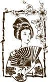 Geisha giapponese tradizionale Fotografie Stock