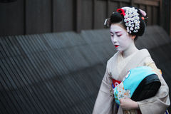 Geisha in Gion Royalty-vrije Stock Afbeelding