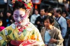 Geisha in Gion Stockbild