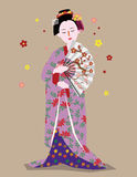 Geisha girl Stock Photography