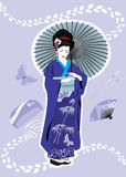 Geisha girl. Japanese Geisha girl wearing traditional kimono Royalty Free Stock Photos